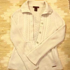 Calvin Klein White Sweater Cardigan